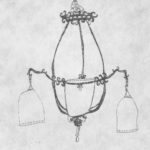 <em>Chandelier Matricis</em>, 2006<br> 5X5in.<br>      Etching from Santa Monica, CA.